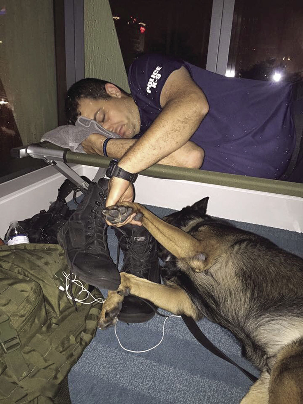 Fort Lauderdale officer and his dog