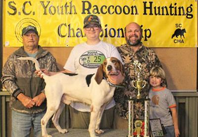 Jace Shuler youth coon hunt champ