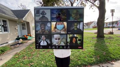 Dad's Zoom Halloween costume for his daughter is scary good