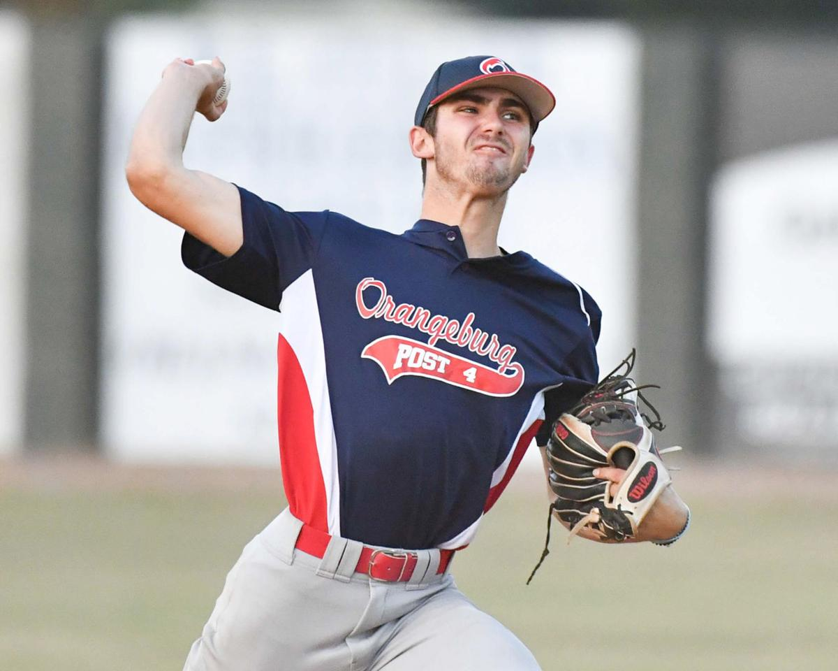 Isgett pitches for Post 4 against West Columbia