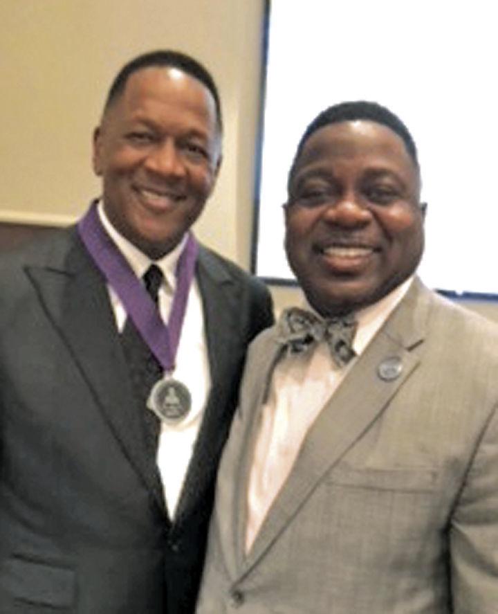 Rev. Dr. Donald Greene Jr. and Franklin Evans