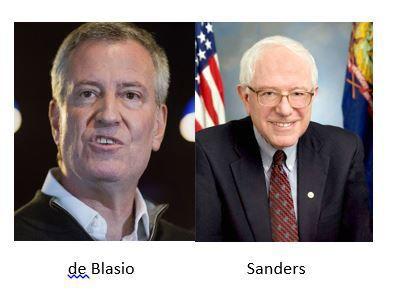 De Blasio and Sanders