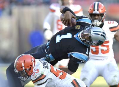 0674663e2 Panthers Browns Football. Carolina Panthers quarterback Cam Newton ...