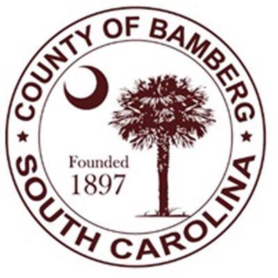 LIBRARY Bamberg County seal NU