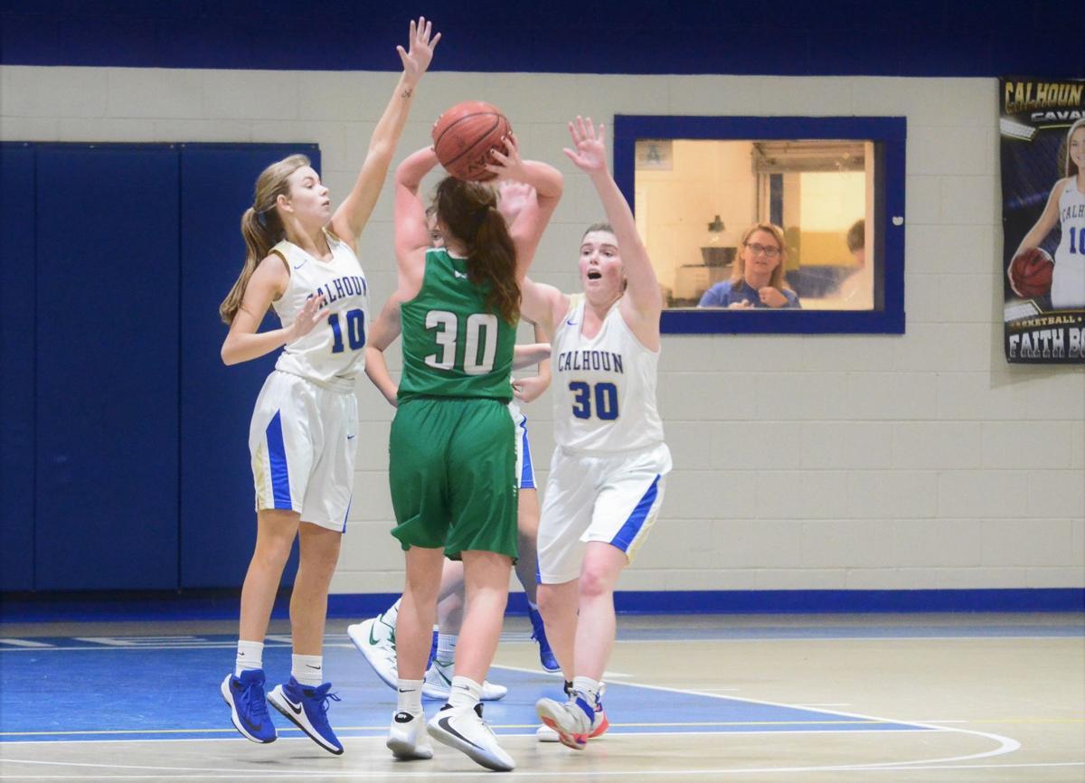 CA defense against Williamsburg girls team