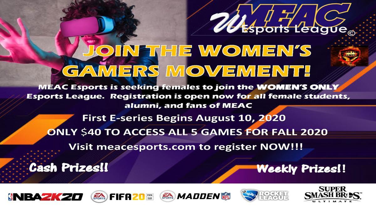 MEAC ESports Women's Team graphic