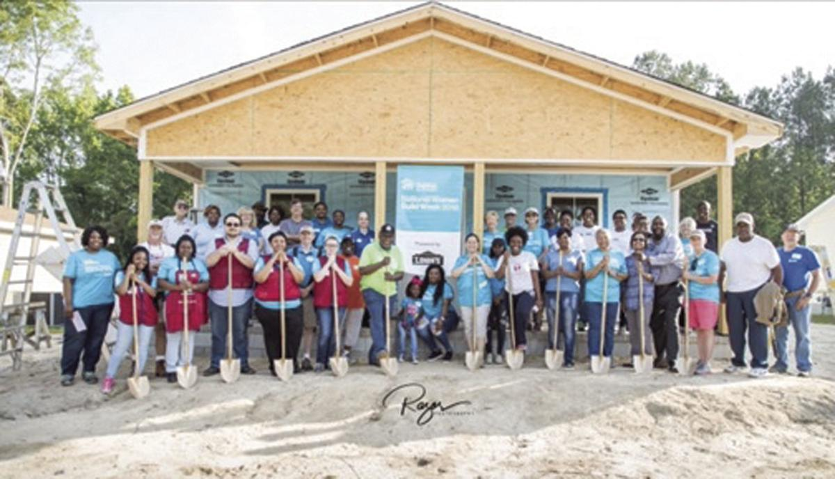 Habitat for Humanity and volunteers