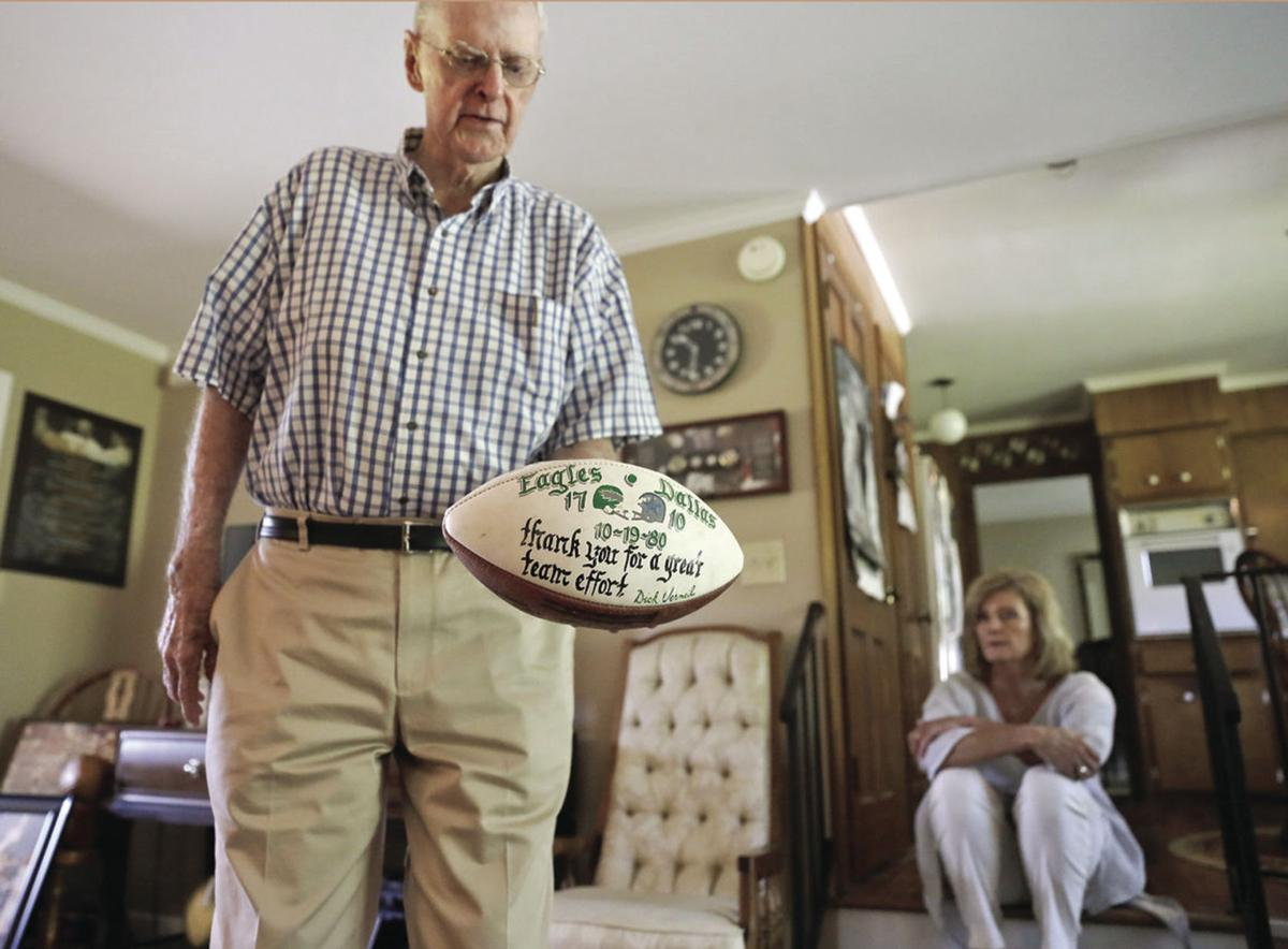 Geb Runager holds the game ball