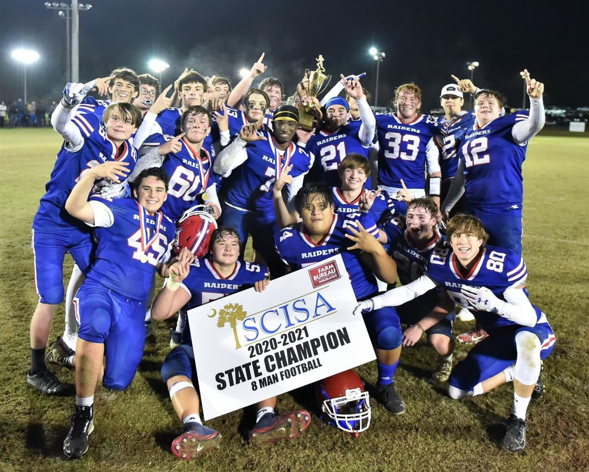 Holly Hill Academy celebrates after winning the 2020 Class A 8 Man SCISA state championship  Pic 3) celebration pic