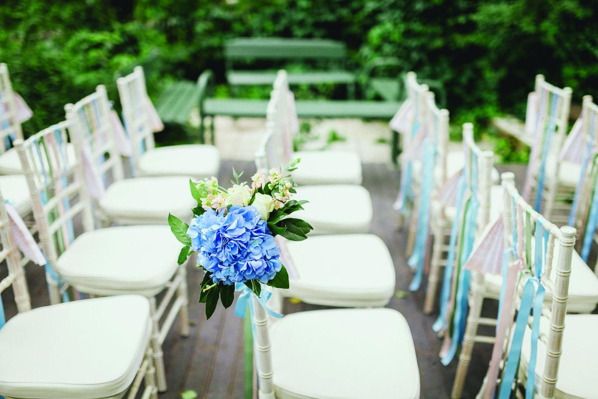 chairs from wedding ceremony