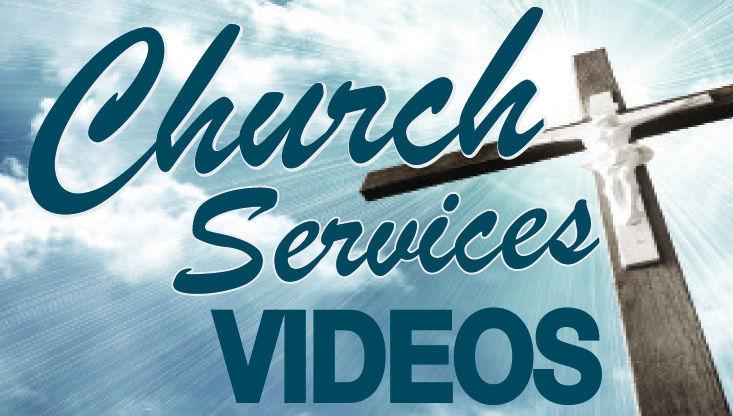 Church services videos button