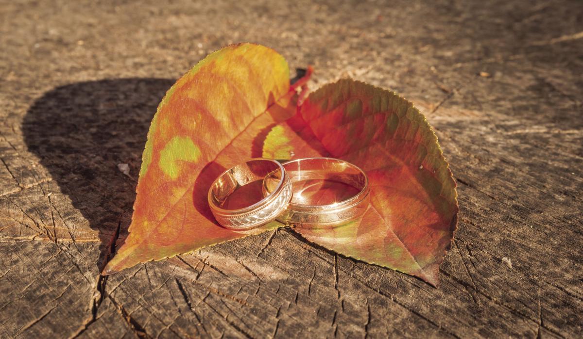 wedding rings, fall
