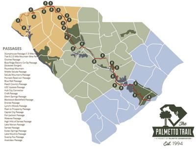 Palmetto Trail map
