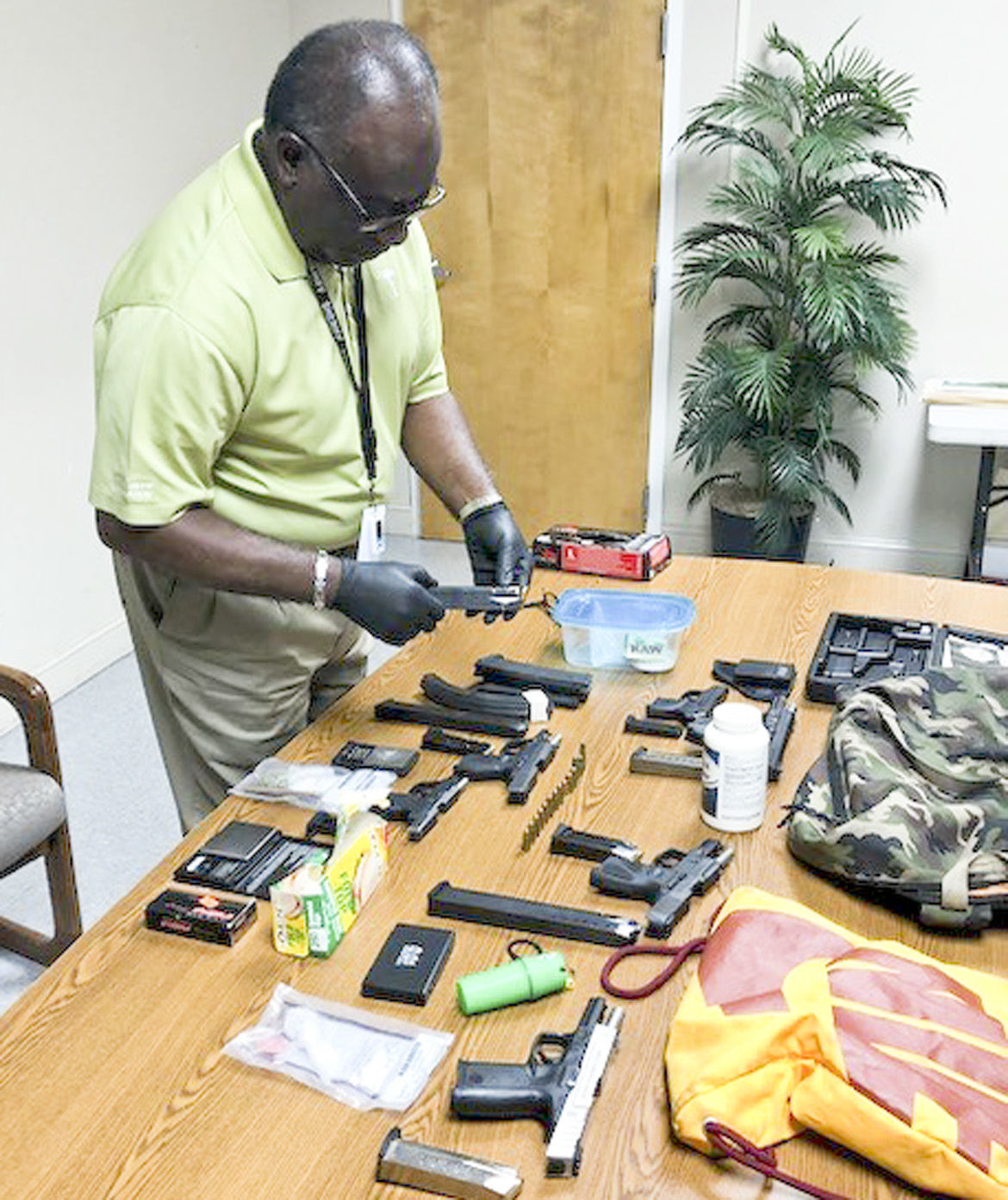 Drugs and weapons seized
