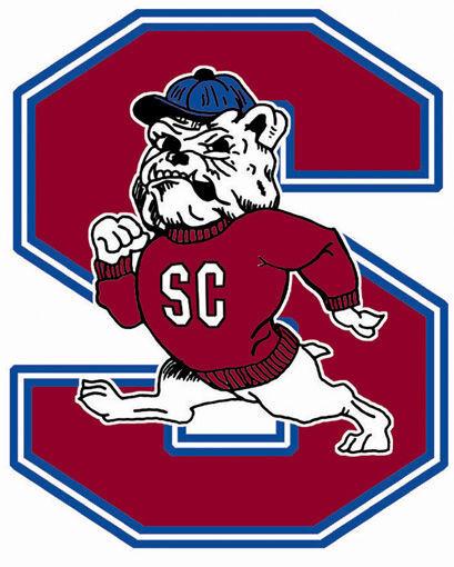 LIBRARY SCSU athletic logo