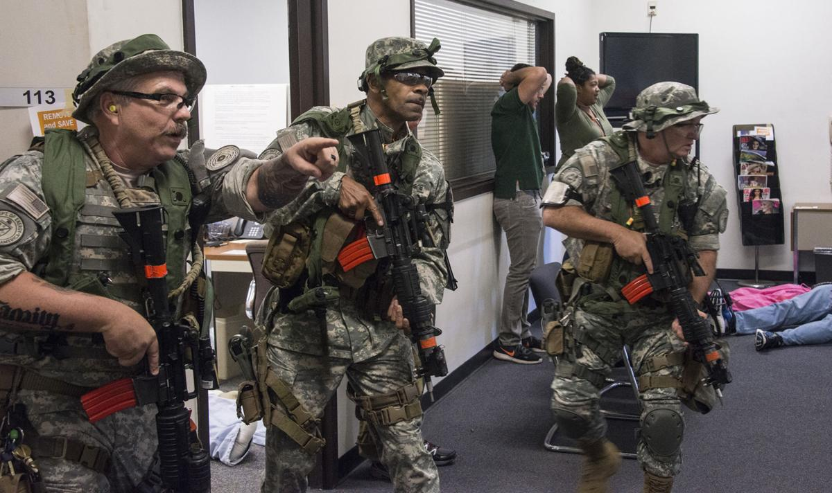 Active-shooter exercise