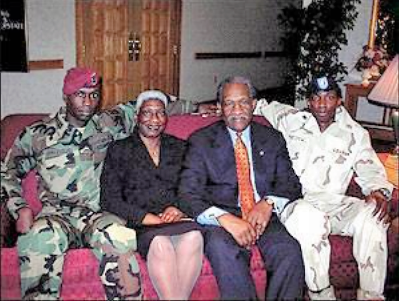 Matthews and military sons