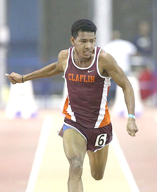 Brandon Valentine Parris Is Shown In Action On The Track.