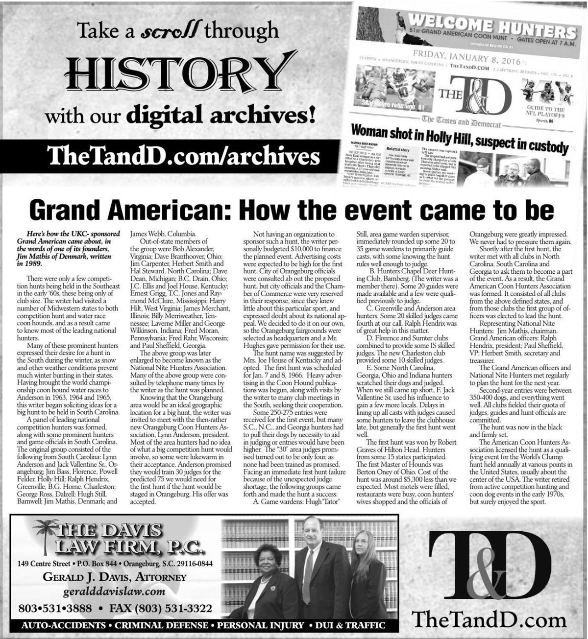 TheTandD.com/archives, Jan. 5, 2020