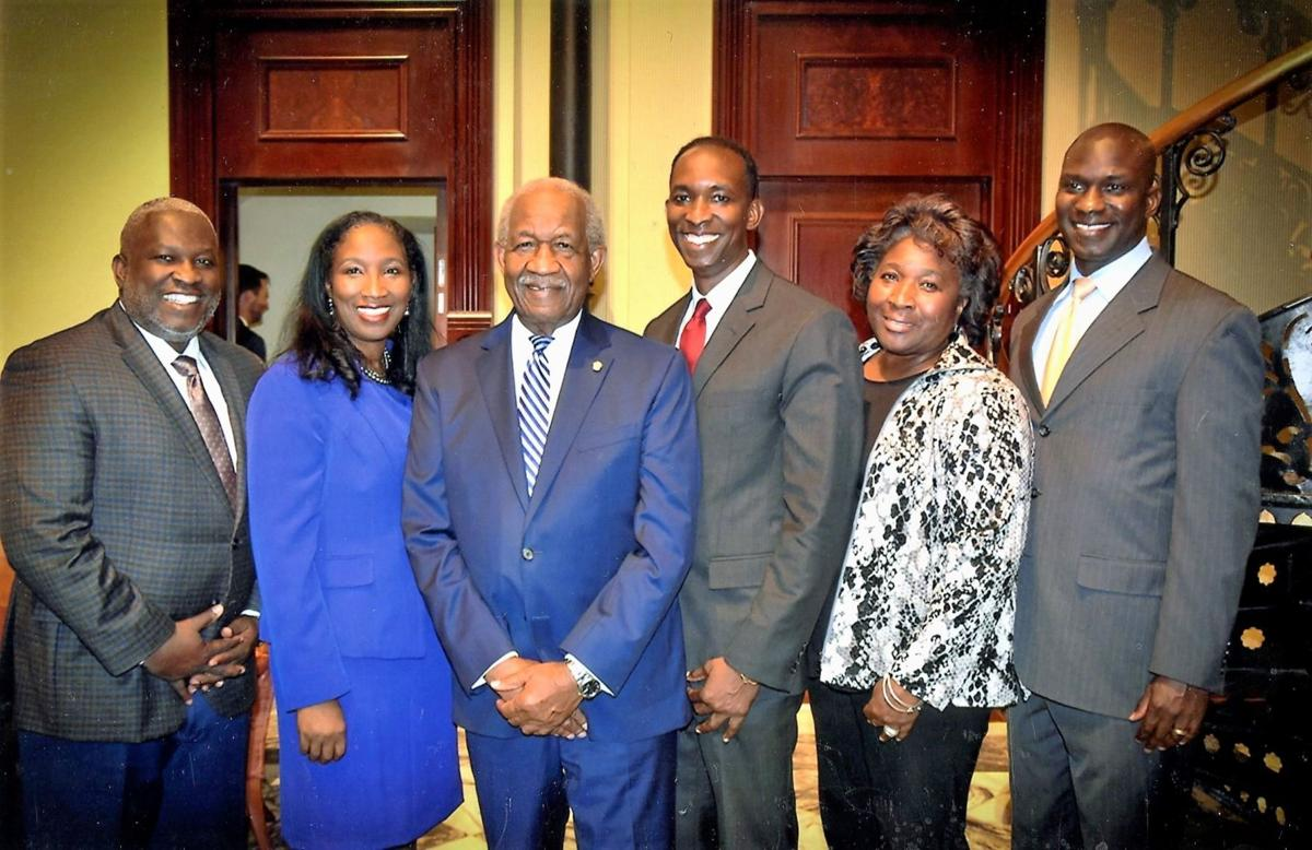 Sen. Matthews and family