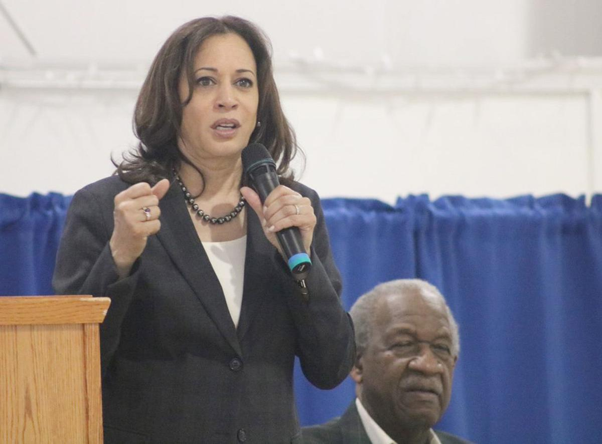 Kamala Harris speaks in St. George