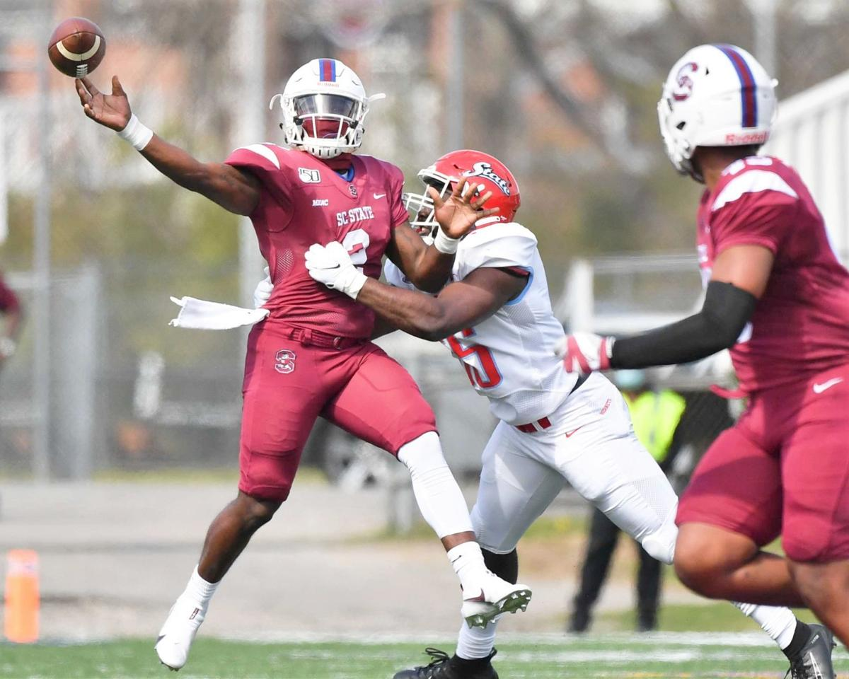 Fields throws against Delaware State