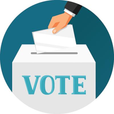 Voting ballot box illustration