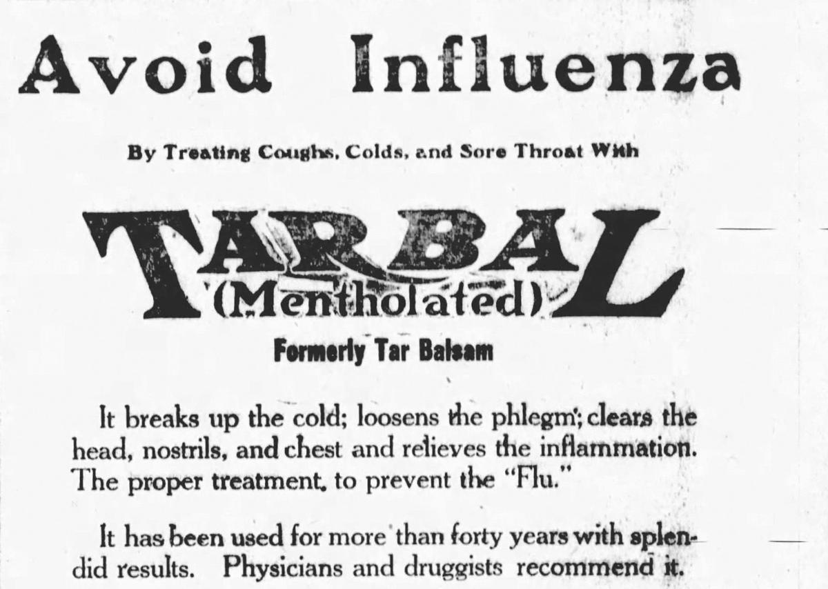 1920 newspaper ad