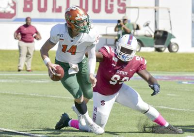 QB pressure by SC State against FAMU