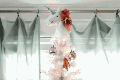 Unicorn Christmas Tree Toppers Are The Cutest Holiday Trend This
