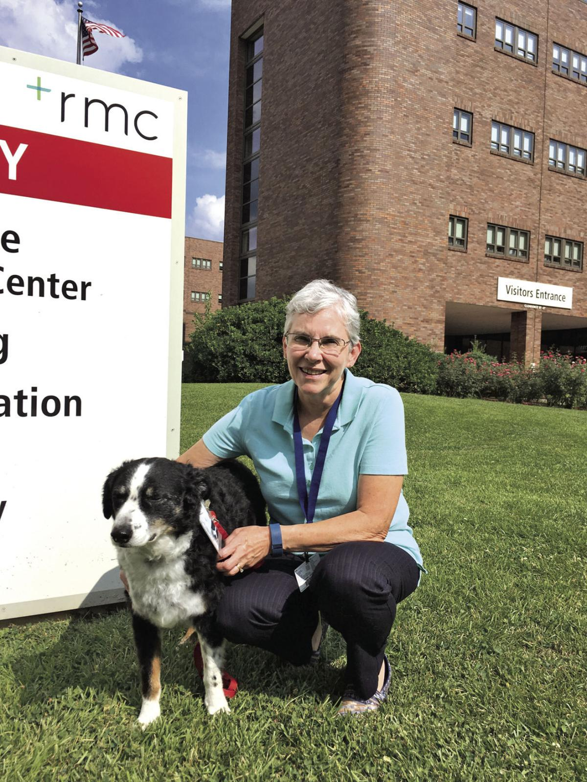 Sue, a certified therapy dog