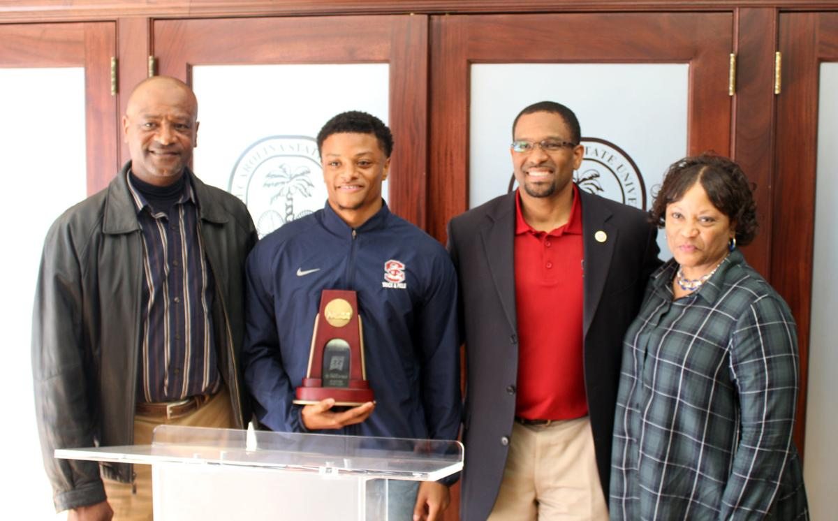 Kemp honored by S.C. State for track medal