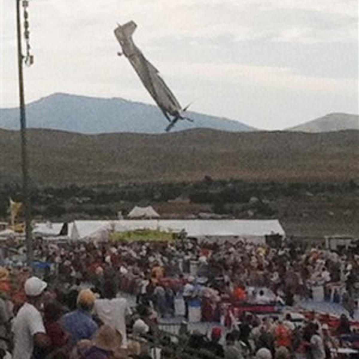 Reno air race crash scene shows violence of impact   News