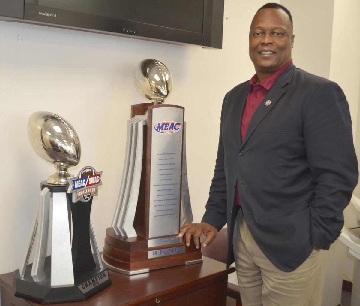 Stacy Danley with trophies