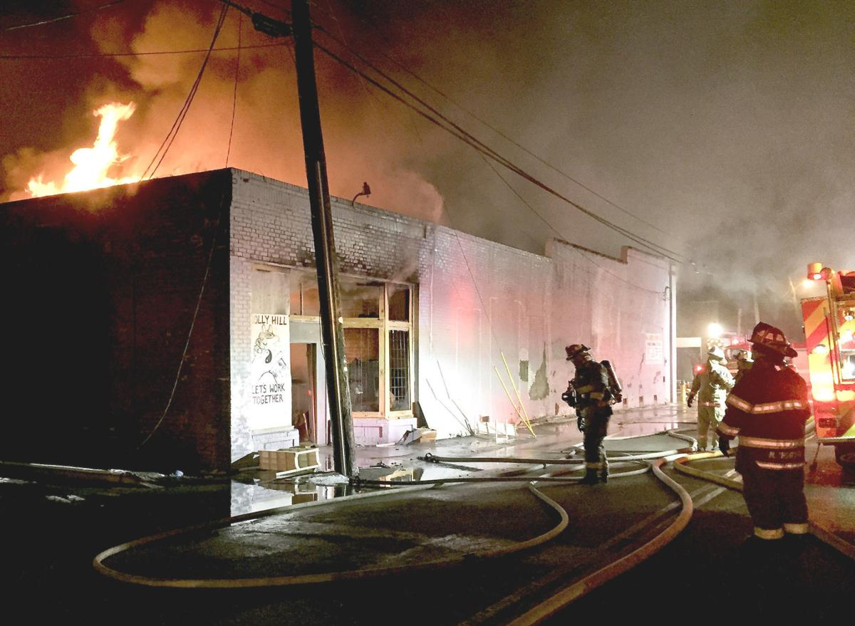 Fire in downtown Holly Hill (copy)