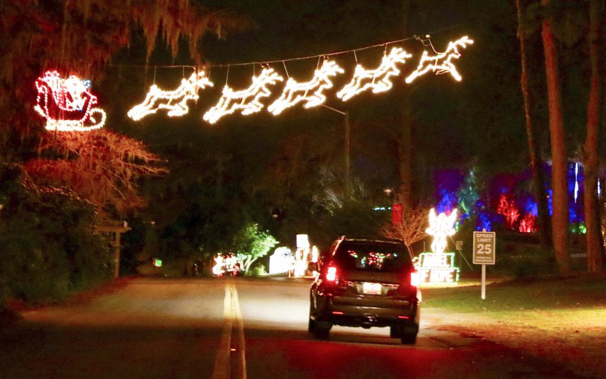 Edisto Memorial Gardens Christmas Lights