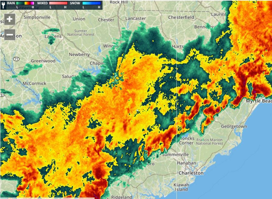 THE LATEST: Heavy rain but no reports of serious damage ...