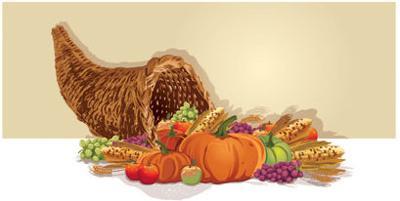LIBRARY: Thanksgiving horn of plenty