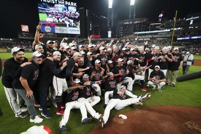 NLDS Brewers Braves Baseball