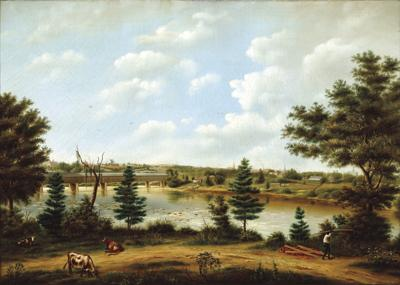 Eugene Dovolliers, View of Columbia, c. 1850-55