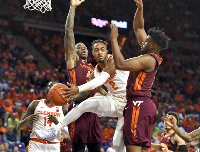 APTOPIX Virginia Tech Clemson Basketball