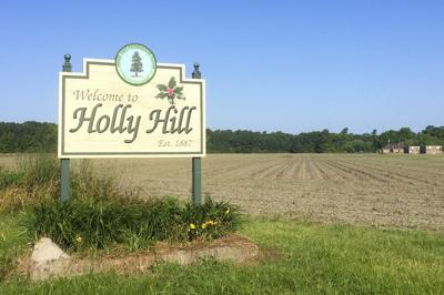 Holly Hill town sign illustration LIBRARY