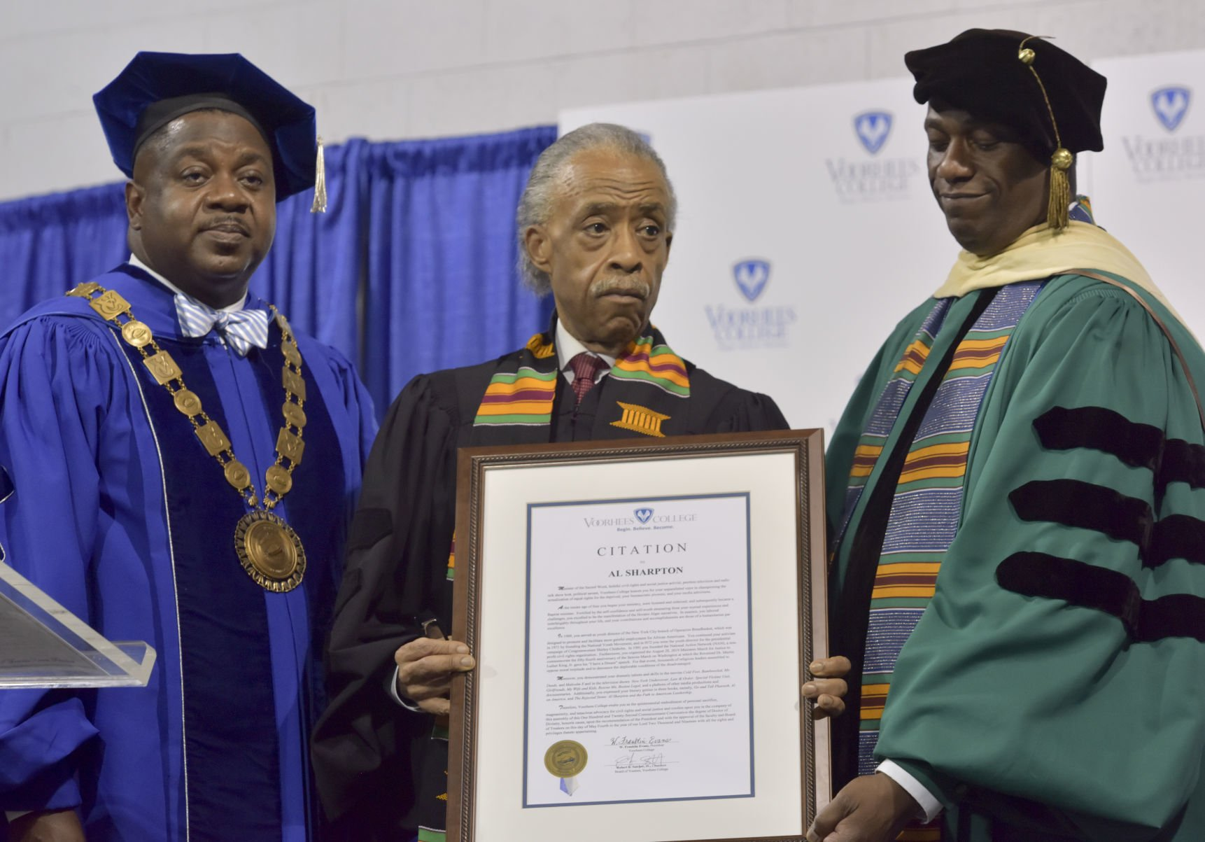 rev al sharpton speaks at voorhees commencement ceremony local rh thetandd com