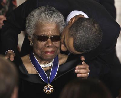 Barack Obama, Maya Angelou