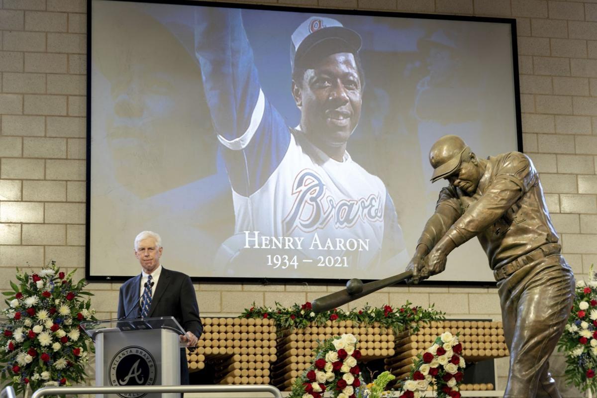 APTOPIX Hank Aaron Memorial Baseball