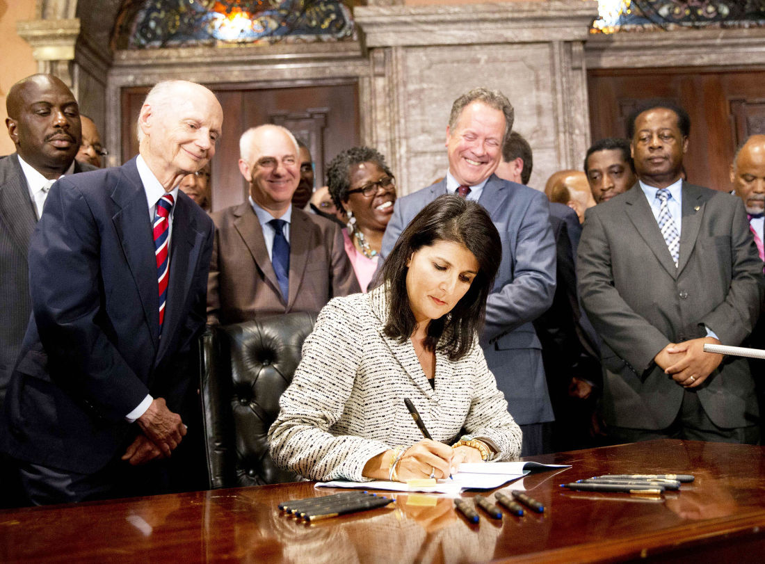 Haley and former governors