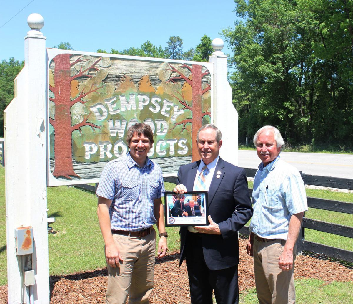 Wilson visits Dempsey