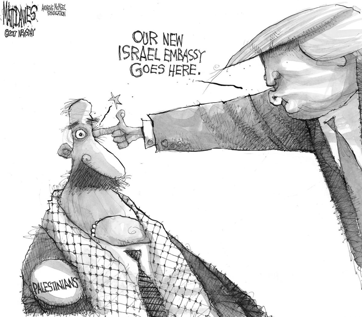 New Israel embassy goes here ...