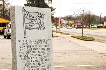 Confederate marker on John C. Calhoun Drive