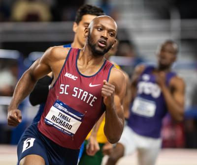 Tyrell Richard at 2019 NCAA Indoor (Erin Mizelle)